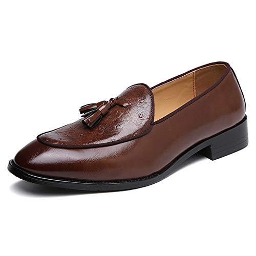 Mocasines para Hombre - Mocasines de Piel sintética con borlas para Hombre y Mujer Zapatos Casuales Mocasín clásico de Cuero para Barco, la elección Caballero en Primavera y Verano