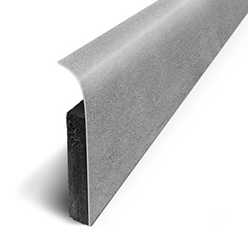 Sockelleisten, selbstklebend mit 3M-Klebeband, 120x 70cm, 5 Stück, grau, D180526D