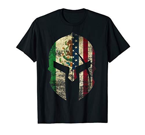 Mexican American Spartan Helmet Chicano Pride T-Shirt