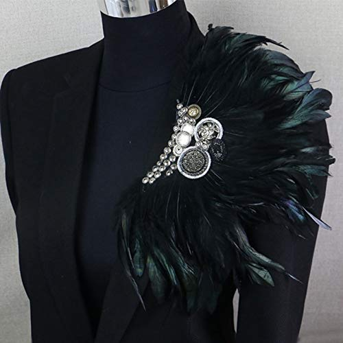 brooch Boutonniere Clips Collar Brooch Pin Wedding Bussiness Suits Banquet Brooch Black Feather Anchor Flower Corsage Party Bar Singer