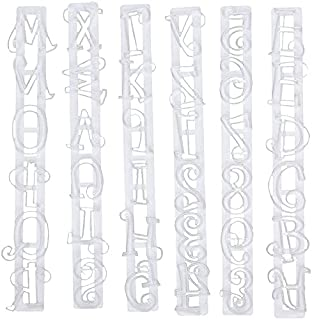 DAYONG 6 PCS Alphabet Cookie Stamp Set, for Decorating for Cookies, Cake, Fondant, and Paste - Baking Impress Cutter DIY M...