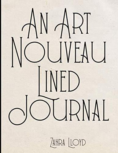 An Art Nouveau Lined Journal: Curves Lines Interior