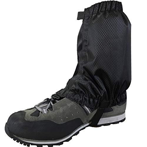 VORCOOL 1 Paar Schnee Gamaschen Leichte Wasserdichte Knöchel Gamaschen für Outdoor Wandern Klettern (Schwarz) - 6