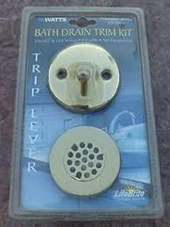 Watts Polished Brass Bath Drain Trim Kit, C932PVD