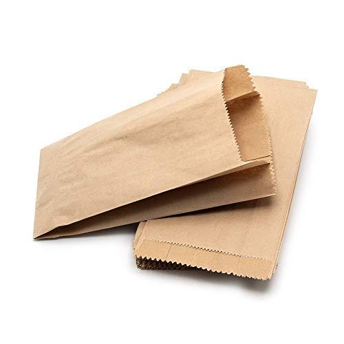 ARTESTAR Sacchetti di Carta Marrone Kraft, Sacchetto di Carta Sacchetto Regalo di Caramelle di Pane, Sacchetti Regalo Fai da Te in Carta Riciclata per Pranzo e Artigianato 8 * 15 cm