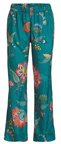 PiP Studio Damen Belinna Jambo Schlafhose Pyjamahose Homewear Strandhose floraler Druck, Farbe:grün, Grösse:XS - 34