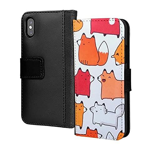 Linda ardilla Colourfu Fox Resumen PU Cartera de cuero en la tarjeta de la caja del teléfono para Huawei P40 Pro Plus