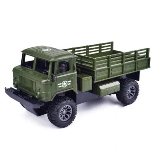 Lihgfw Fernbedienung LKW Big Truck Simulation Spielzeug Transporter Offroad Fahrzeug Engineering Fahrzeug Auto Modell Junge Geburtstagsgeschenk Armee Grün 1/18 (Color : Grün, Größe : 2 Batteries)