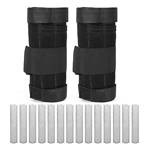 Lixada 1 Paar verstellbares Knöchelgewicht Übung Beingewichtetes Training Gewicht Gewicht Wraps Krafttraining 1 kg / 2 kg / 3 kg