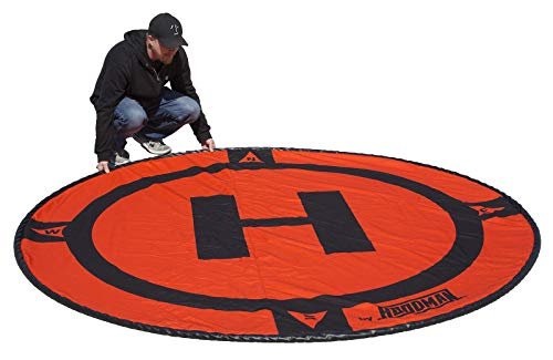 Hoodman HDLP8 Drone Landing Pad Launch Accessory 8 Foot Diameter Fits DJI Matrice Alta Size Larger RC Quadcopter