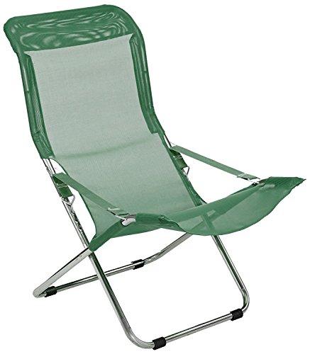 Fiesta Chaise Longue Fiam en aluminium siège en texfil couleur vert foncé