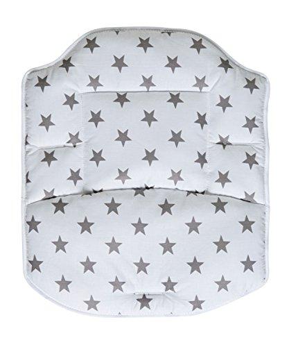 Schardt Coussin de Chaise Haute Best Big Stars Grey