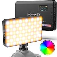 RGB VIDEOLEUCHTE MIT 120 LED-LAMPEN - Die Farbtemeratur: 2500-9000K, Helligkeit: 0-100%, Farbton: 0-360 Grad, CRI 95+. 3 Lichtmodi & 20 verschiedene Fülllichteffekte für eine Vielzahl von Fotoszenen, die Ihnen vielfältige und kreative Inspirationen b...