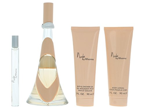 Rihanna Nude giftset, Eau de Parfum purse spray, body lotion, shower gel, 1er Pack (1 x 290 g)