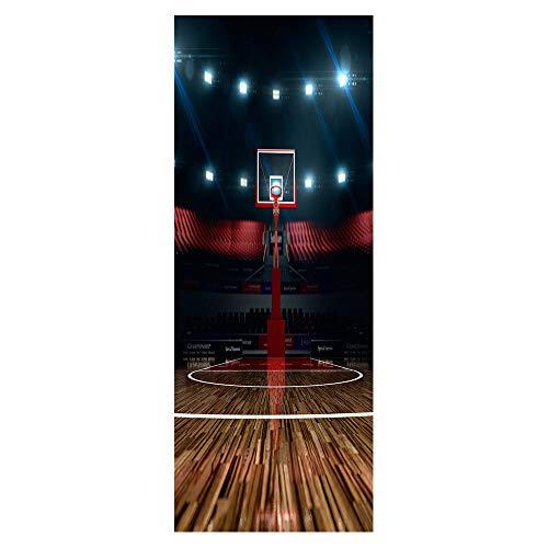 DOORWP Tür Aufkleber Kreative Basketball Steht wasserdichte Wohnzimmer Schlafzimmer Tür Tapete Selbstklebende Kunst Wandtattoos