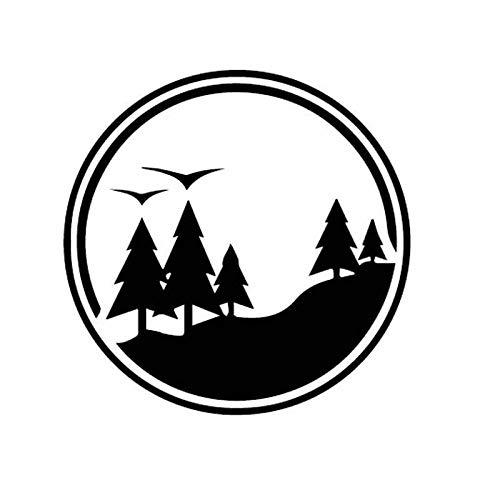 GWCU 15.2CM * 15.2CM Forest BeautifulWindow Vinyl Aufkleber Autoaufkleber C27-0070-Schwarz