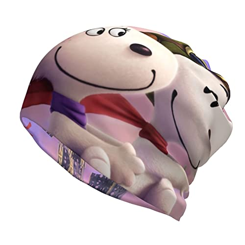 Snoopy and Fifi in The Paris Slouch - Gorro unisex para hombre y mujer, color negro