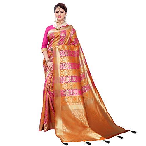 Being Banarasi Women's Patola Silk Saree With Blouse Piece