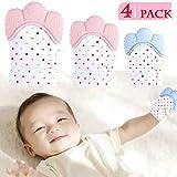 NEPAK 4 Pack Baby Dentición Manoplas,Protege Manos Bebés,S