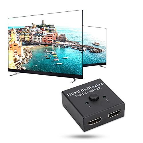 FOLOSAFENAR 1080P 4Kx2K Resolución HDMI Switcher HDCP 1.2 HD HDMI Splitte HDMI 1.3 Versátil para computadora, Smart TV, decodificador, Reproductor de Red