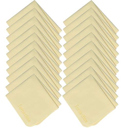 Super de grosor cristal paño de limpieza, de microfibra Beige Earnestine 6x 7Inch (20unidades)