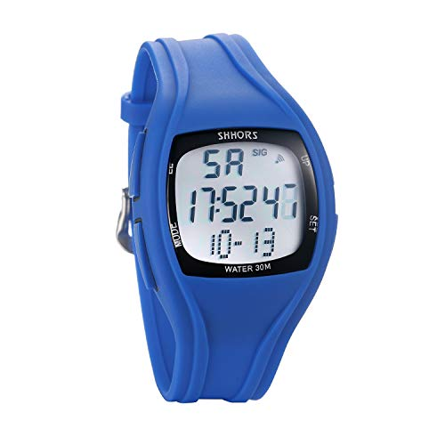 Lancardo Orologio Elettronico da Polso Uomo Donna cinturino Silicone Quadrante Display Digitale Multifunzione Impermeabile Blu