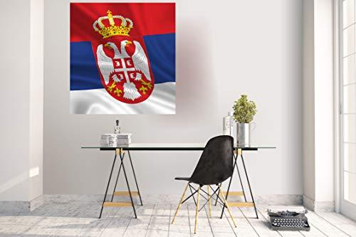 Wandtattoo Wandsticker Aufkleber Kinderzimmer Serbien Fahne Flagge