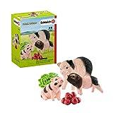 Schleich- Colección Farm World Set de Figuras de Mamá Cerdita, Lechones y Accesorios (42422)