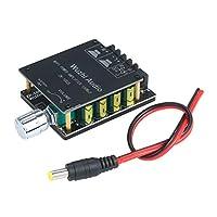 オーディオフィルター付きミニデジタルパワーアンプボードモジュール100Wx2 BT5.0ステレオオーディオAMP、ボリュームコントロールノブおよびスイッチ付き