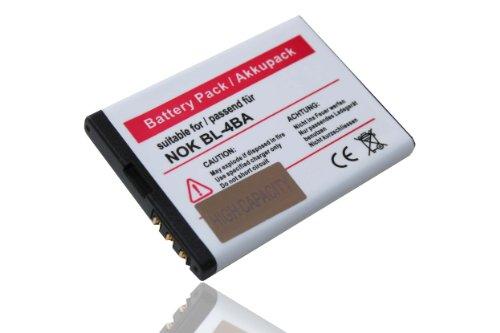 Batería Compatible con Nokia reemplaza BL-4BA Compatible con 2360/2760 / 6111/7370 /...