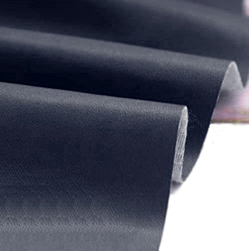 A-Express Cuero de imitación Tela Cuero sintético Vinilo Paño de cuero Material de tela 140cm de ancho - Azul marino 5 Metro (500cm x 140cm)