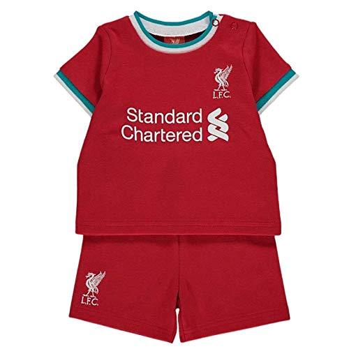 Brecrest Liverpool - Juego de camiseta y pantalones cortos para bebé (9-12 meses)