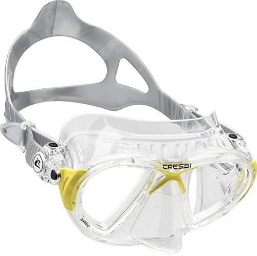 Cressi Nano Crystal Máscara de Buceo, Unisex, Transparente/Amarillo