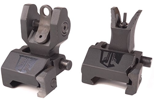 Ozark Armament Micro Flip Up Back Up Iron Sights - Best Military Grade Iron Sight with Metal Construction - Two Aperture Sight for Close and Precision Targets - Designed to Mount on Picatinny Rails