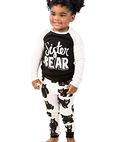 Lazy One Matching Family Pajama Sets for Adults, Kids, and Baby (Family Bear)