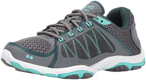 Ryka Women's Influence 2.5 Cross Trainer, Grey/Teal, 8 M US