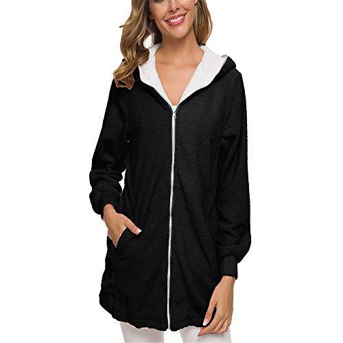 yanghuakeshangmaoyouxiangong Damen Herbst/Winter Lammfell Jacke Zip Cardigan Warme Jacke Damen Plüsch Pullover