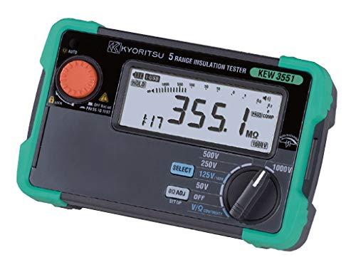 共立電気計器 (KYORITSU) 6レンジ絶縁抵抗計 (50V/100V/125V/250V/500V/1000V) : KEW 3551