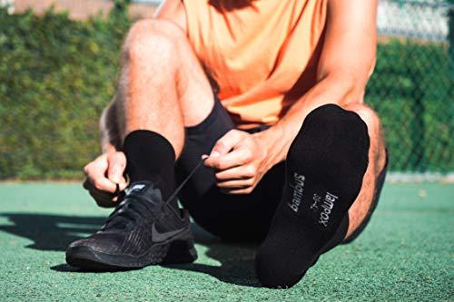 lampox Bambussocken (6x Paar) Atmungsaktiv Socken Business Sport Laufen Reduziert Schweiß (43-46, Schwarz) - 2
