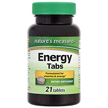 Nature's Measure  Energy Tabs 21 Tablets