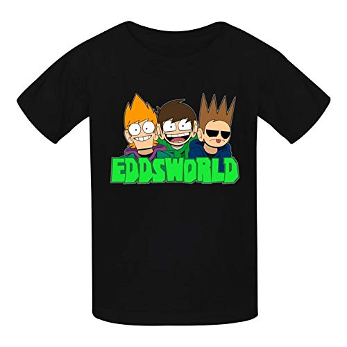 GBOYgboyy EDD-s-Cute-World Children Multicolor Ultra Cotton Printed T-Shirt Short Sleeve Kids Tees Boys Girls White Black