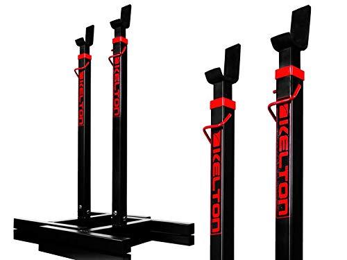 Kelton - Supporto per squat T-Sport, per sollevamento pesi, regolabile, per casa, palestra, attrezzi portatili, per allenamento, allenamento, colore: nero