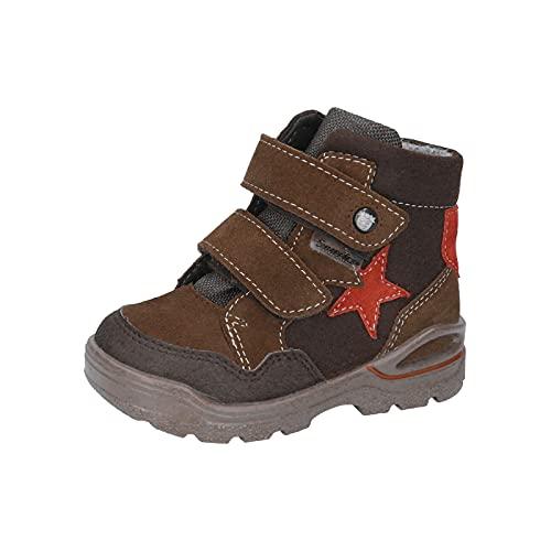 RICOSTA Jungen Boots Michi von Pepino, Weite: Weit (WMS),Sympatex,Outdoor-Kinderschuhe,warm,gefüttert,Kids,Hazel/Marone (264),24 EU / 7 Child UK