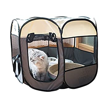 BOENTA Parc pour Chien, Enclos Lapin Exterieur Enclos pour Chat Extérieur Niche pour Chat Accessoire Lapin Cage Chien L Small