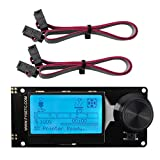 FYSETC Mini 12864 Smart LCD Screen Smart Display Controller Board 128x64 5V Supports Marlin DIY with SD Card for Reprap 3D Printer - Black on White Backlight