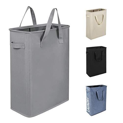 WISHPOOL - Cesta Plegable para la Colada con asa, Color Azul, Gris (Grey S)
