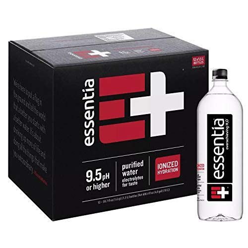 Essentia Water; 1.5L Bottles; Ionized Alkaline Bottled Water; Electrolytes for Taste; Better Rehydration; pH 9.5 or Higher; Pure Drinking Water