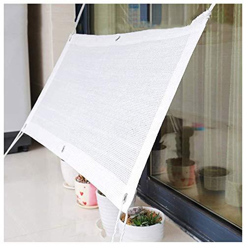 YLL Toile D'ombrage - 95% De Toile D'abat-Jour Blanc, Tissu D'ombrage Extra-Robuste en Maille Résistante Aux UV - avec Filetage, Filet D'ombrage,1x1m(3 * 3ft)