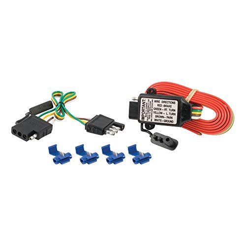 CURT 55179 Non-Powered 3-to-2-Wire Splice-in Trailer Tail Light Converter Kit, 4-Pin Wiring Harness