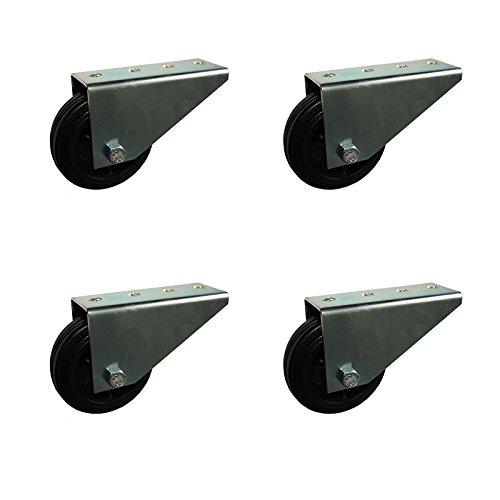4 Stück Stützrollen Rad 80 mm Räder Torrolle Rollen Stützrad Torlaufrolle verzinkt GU